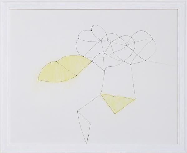 花による表現/w49.2 x h39.8 cm/アクリル絵の具、MDFボード/2009年