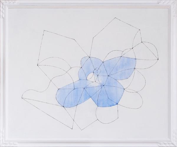 花による表現/w81 x h66 cm/アクリル絵の具、MDFボード/2009年