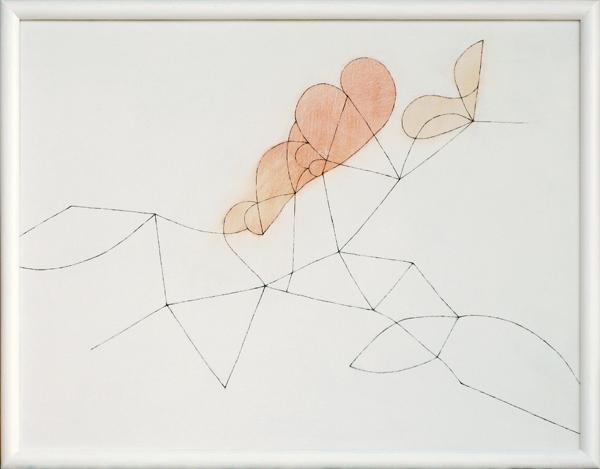 花による表現/w66.1 x h50.9 cm/アクリル絵の具、MDFボード/2009年
