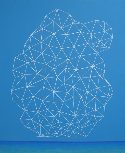 雲/F30 w72.7 x h91 cm/アクリル絵の具、キャンバス/2007年