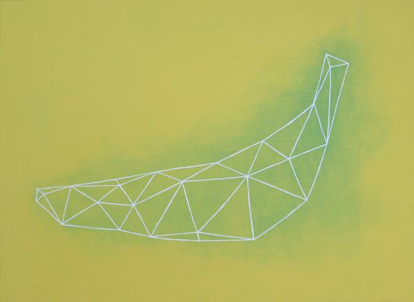 バナナ/A2 w59.4 x h42 cm/アクリル絵の具、キャンバス/2007年