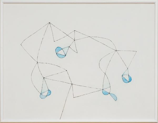 花による表現/w72.7 x h54.5 cm/アクリル絵の具、MDFボード/2009年