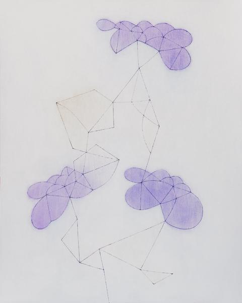 花による表現/w80.7 x h100.4 cm/アクリル絵の具、MDFボード/2008年