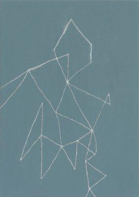 Nalody#6/222 x 309 mm/アルミニウムパウダー、漆、アクリル絵の具、MDFボード/2016年
