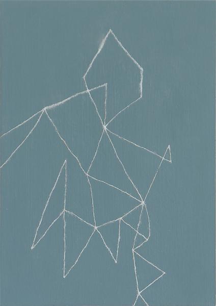 Nalody#6/w22.2 x h30.9 cm/アルミニウムパウダー、漆、アクリル絵の具、MDFボード/2016年
