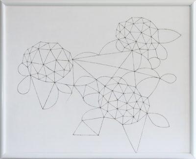 あじさい/808 x 1005 mm/アクリル絵の具、MDFボード/2008年