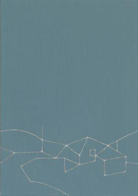Nalody#8/222 x 309 mm/アルミニウムパウダー、漆、アクリル絵の具、MDFボード/2016年