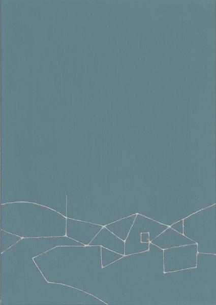 Nalody#8/w22.2 x h30.9 cm/アルミニウムパウダー、漆、アクリル絵の具、MDFボード/2016年