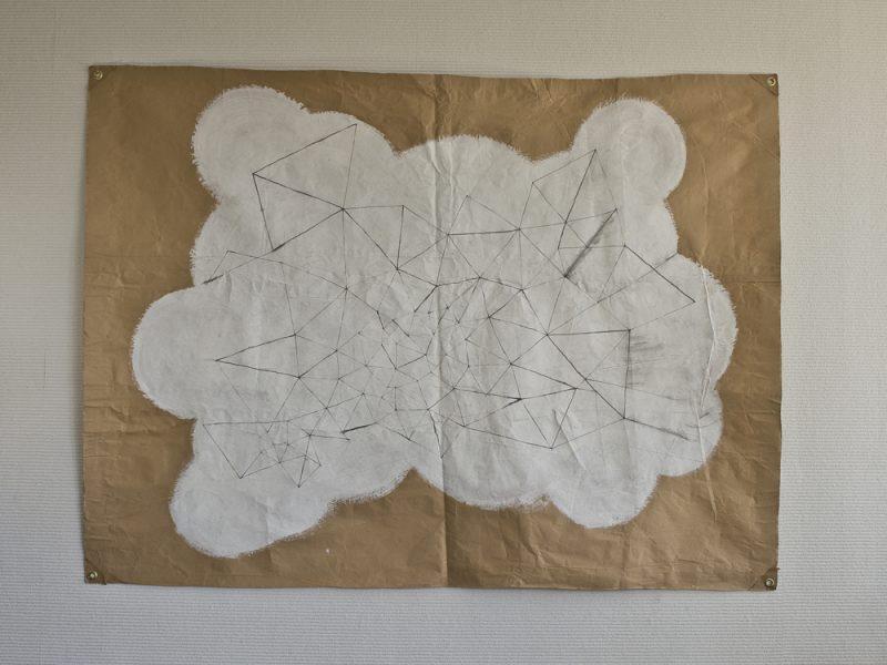 空想/173 x 128 cmぐらい/鉛筆、アクリル絵の具、クラフト紙/2010年