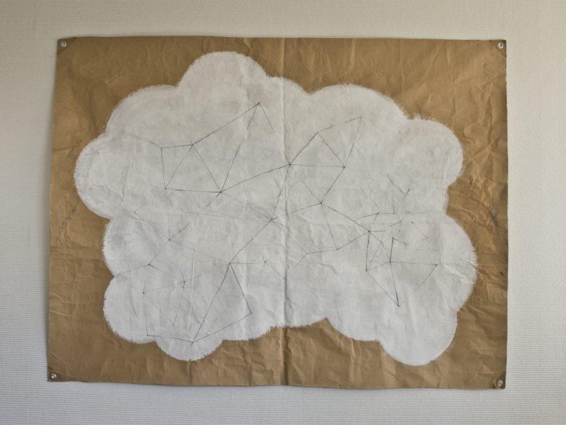 空想/177 x 133 cmぐらい/鉛筆、アクリル絵の具、クラフト紙/2010年
