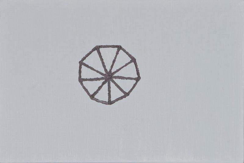 ダンゴムシ/A5 w21 x h14.8 cm/油絵の具、アクリル絵の具、木製パネル/2017年