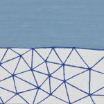 太平洋/F4 w33.3 x h24.2 cm/油絵の具、アクリル絵の具、木製パネル/2017年