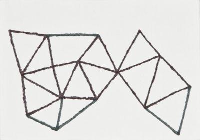 記憶/A5 w21 x h14.8 cm/油絵の具、アクリル絵の具、木製パネル/2017年