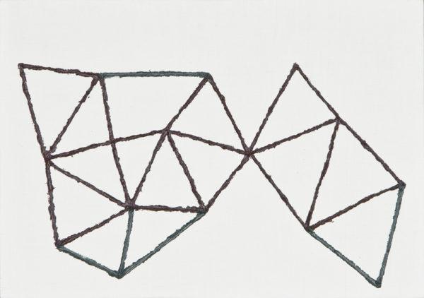 冬の散歩道/A5 w21 x h14.8 cm/油絵の具、アクリル絵の具、木製パネル/2017年