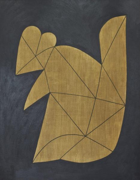 プレゼント/F50 w91 x h116.7 cm/油絵の具、アクリル絵の具、木製パネル/2017年