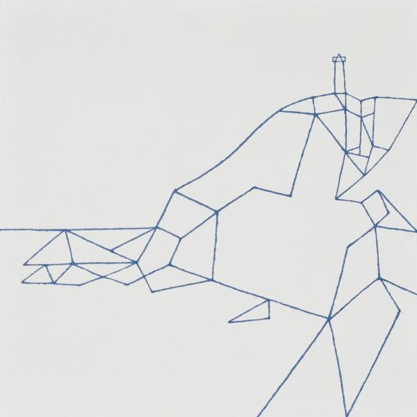 大王崎(絵かきの町)/S12 w60.6 x h60.6 cm/油絵の具、アクリル絵の具、木製パネル/2017年