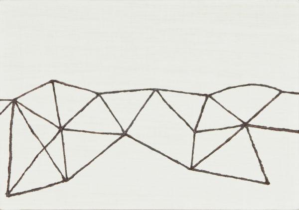 旅先/A5 w21 x h14.8 cm/油絵の具、アクリル絵の具、木製パネル/2017年
