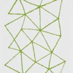 黄緑/F4 w24.2 x h33.3 cm/油絵の具、アクリル絵の具、木製パネル/2017年