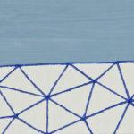 太平洋/A5 w21 x h14.8 cm/油絵の具、アクリル絵の具、木製パネル/2017年