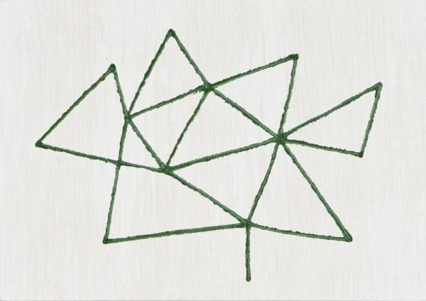 緑/A5 w21 x h14.8 cm/油絵の具、アクリル絵の具、木製パネル/2017年