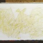 蛾/w35 x h25 cmぐらい/鉛筆、色鉛筆、スケッチブック/2013年