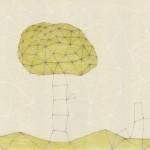 木/B4 w36.4 x h25.7 cm/鉛筆、色鉛筆、アクリル絵の具、紙/2012年