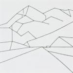 御在所岳/S12 w60.6 x h60.6 cm/油絵の具、アクリル絵の具、木製パネル/2017年