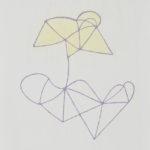 花による表現/F10 w45.5 x h53 cm/油絵の具、アクリル絵の具、木製パネル/2017年