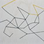 星空観察/F15 w65.2 x h53 cm/油絵の具、アクリル絵の具、木製パネル/2018年