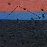 夕暮れ/F8 w45.5 x h38 cm/油絵の具、ペンキ、キャンバス/2020年