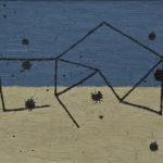 嵐の小屋/F4 w33.3 x h24.2 cm/油絵の具、ペンキ、キャンバス/2020年