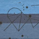 船と太陽/F3 w27.3 x h22 cm/油絵の具、ペンキ、キャンバス/2020年