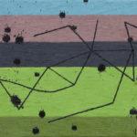昆虫/F6 w41 x h31.8 cm/油絵の具、ペンキ、キャンバス/2020年
