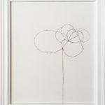 花を描く絵/w23.5 x h28.5 cm/アクリル絵具、mdfボート/2008年